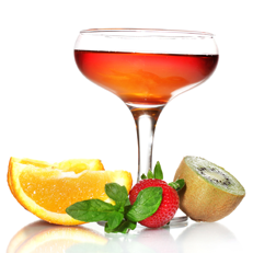 Frucht-Cocktail Sommerliche Abendbriese